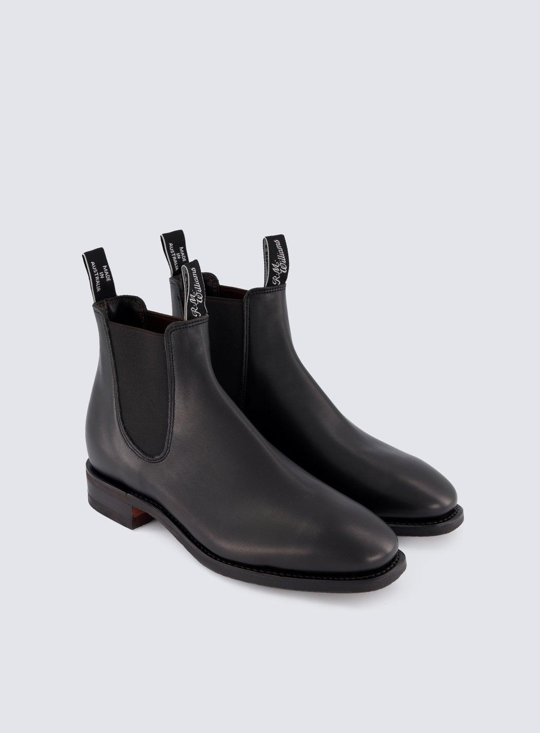 RM Williams Black Comfort Craftsman Boot