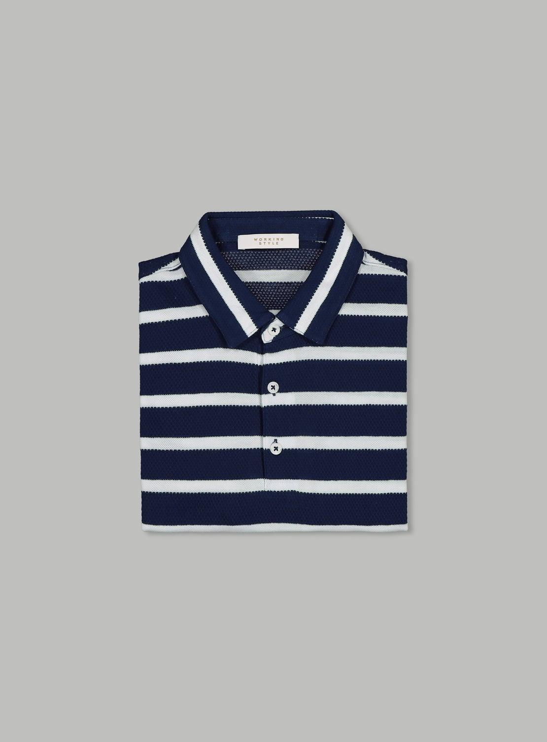 Roberto Blue Stripe Polo
