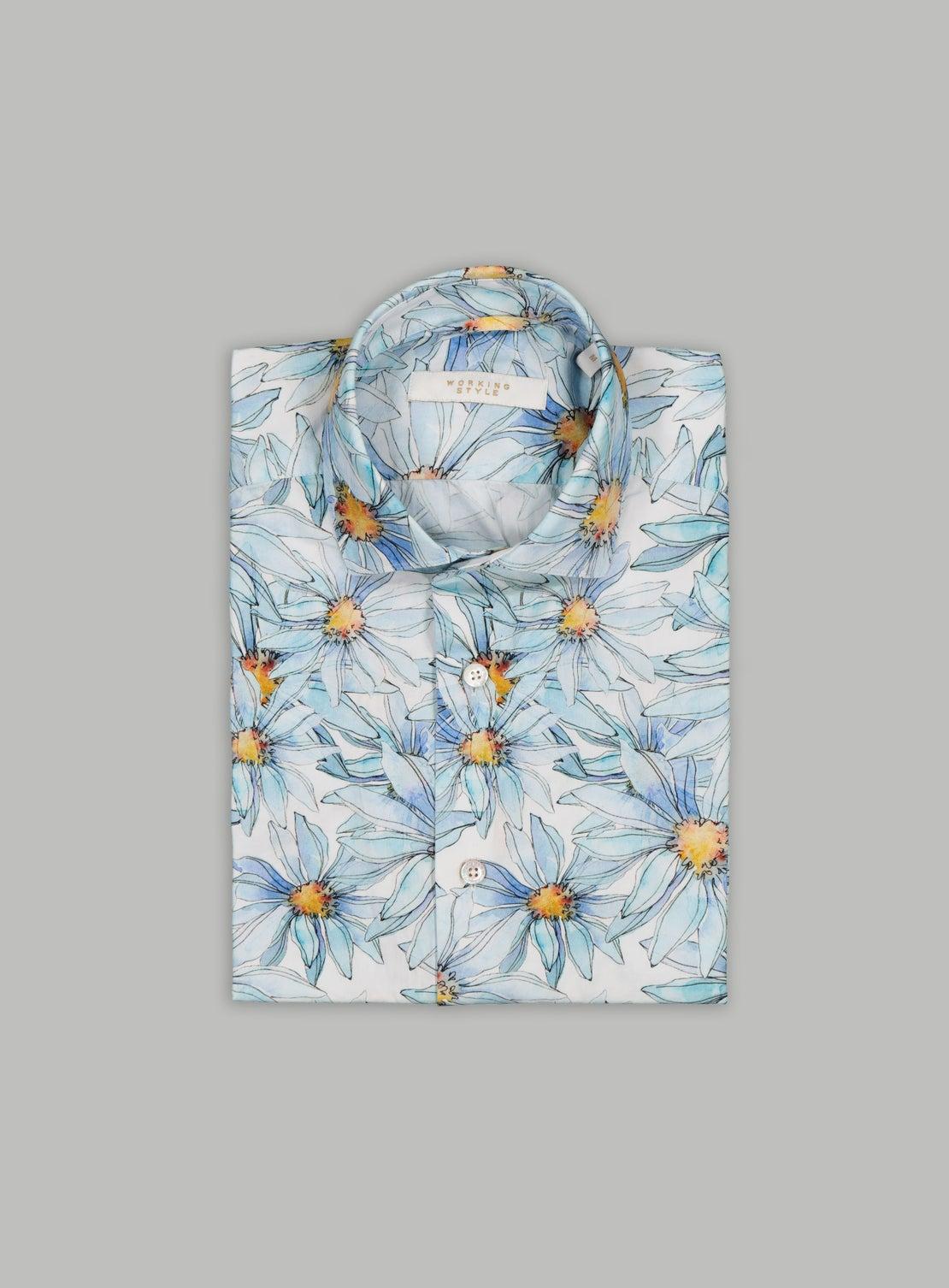 Romantic Floral Short Sleeve Shirt