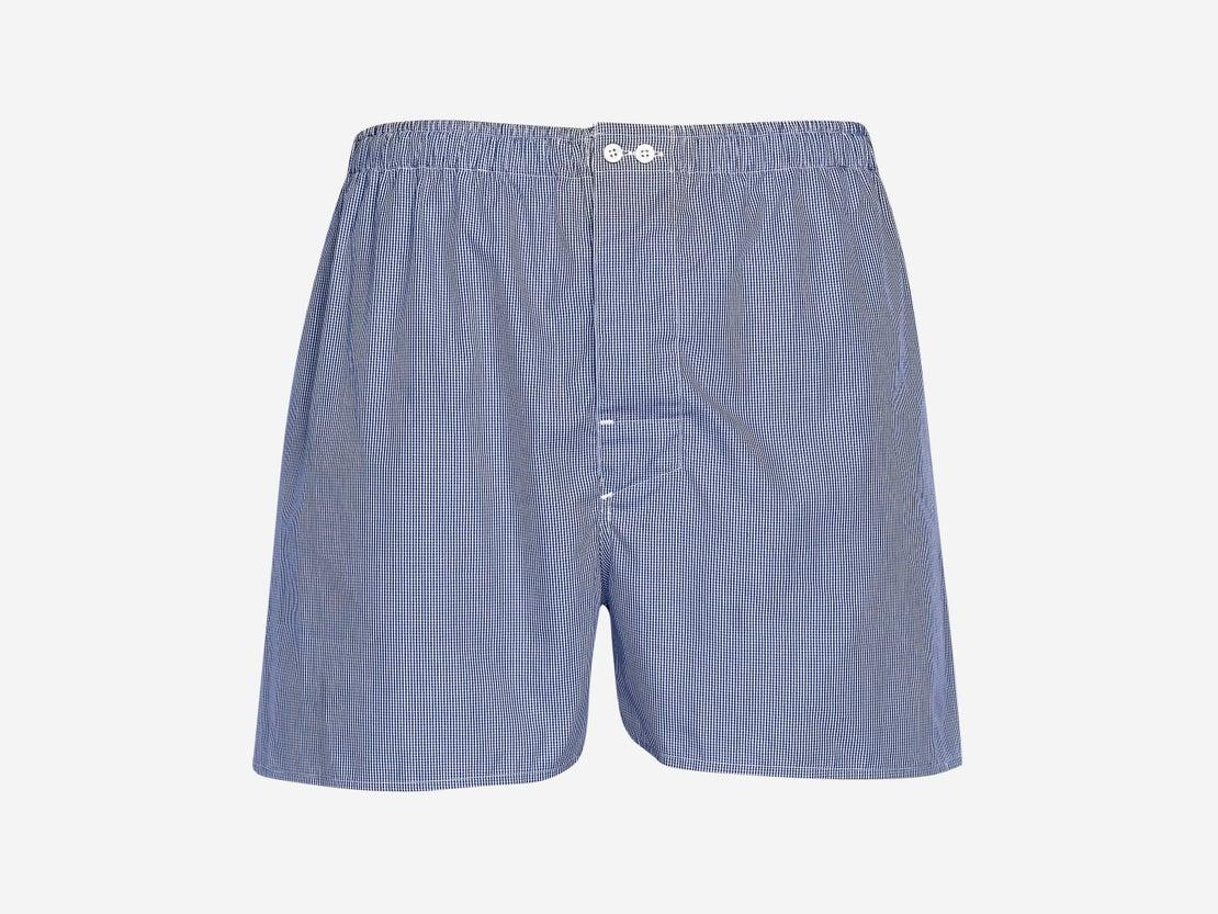 Royal Blue Micro Gingham Boxer Short