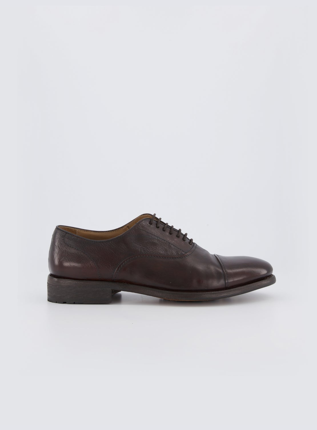 Shelly Chocolate Round Nosed Toe Cap Shoes
