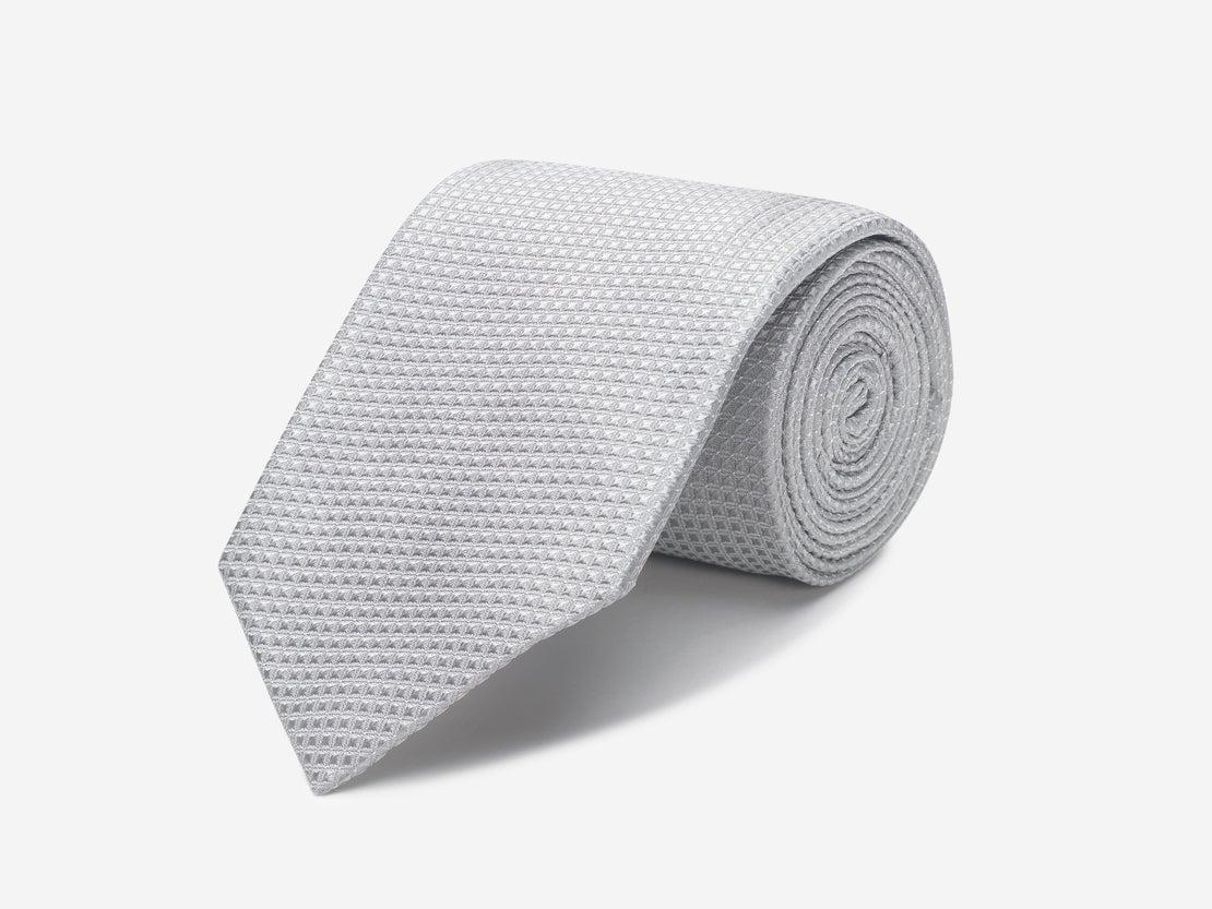 Sliver Diamond Tie