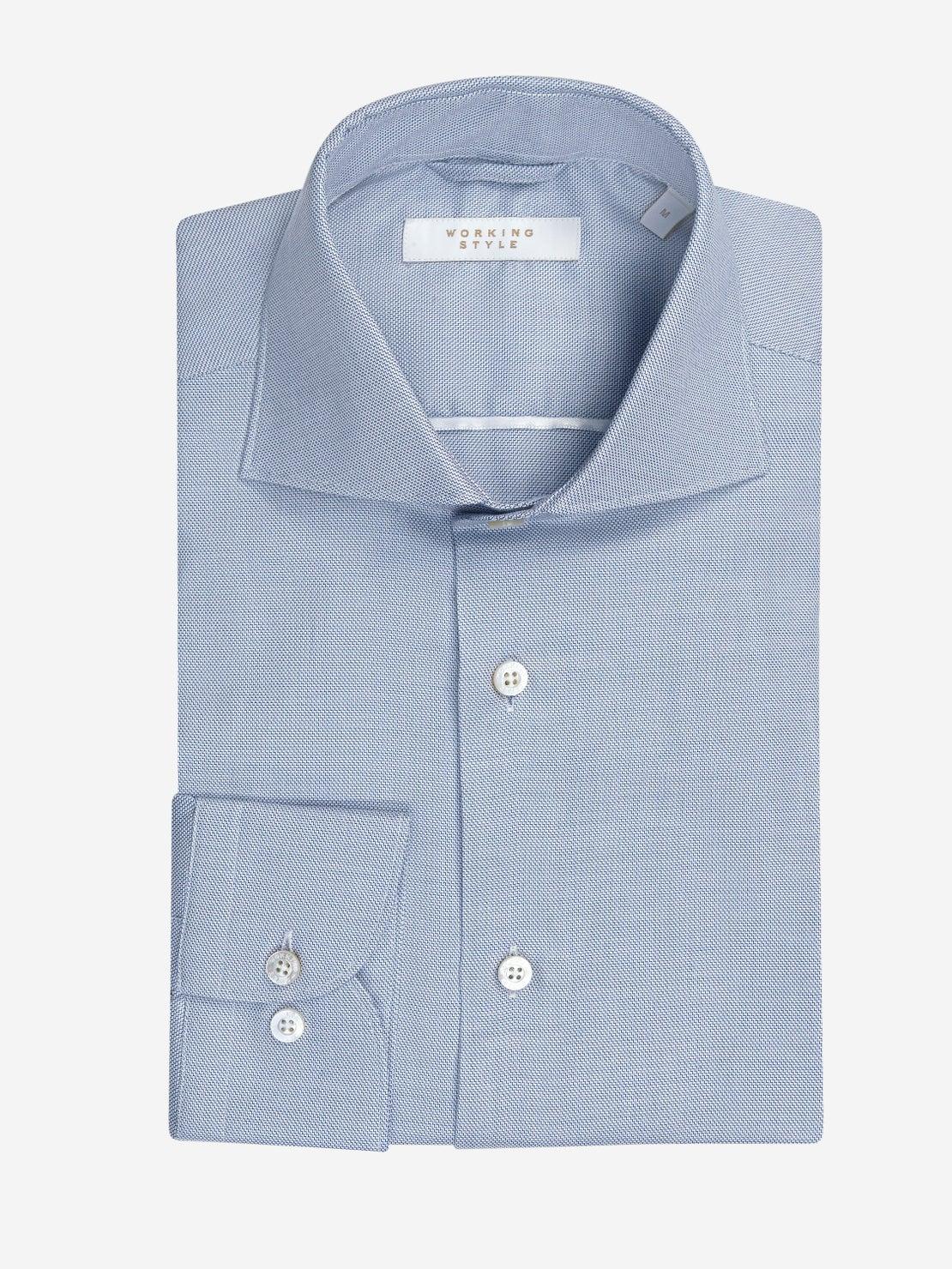 Smokey Blue Step Weave Shirt