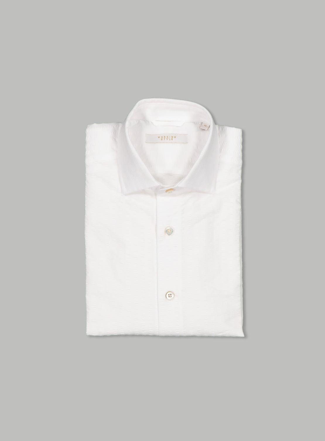 Stan White Seersucker Shirt