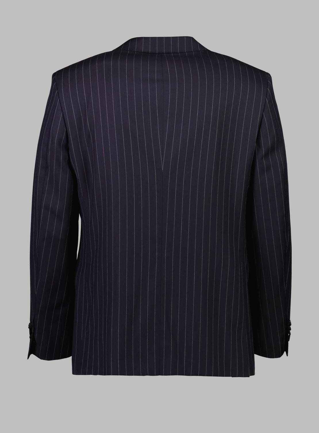 Stefanos Navy Stitch Stripe Suit