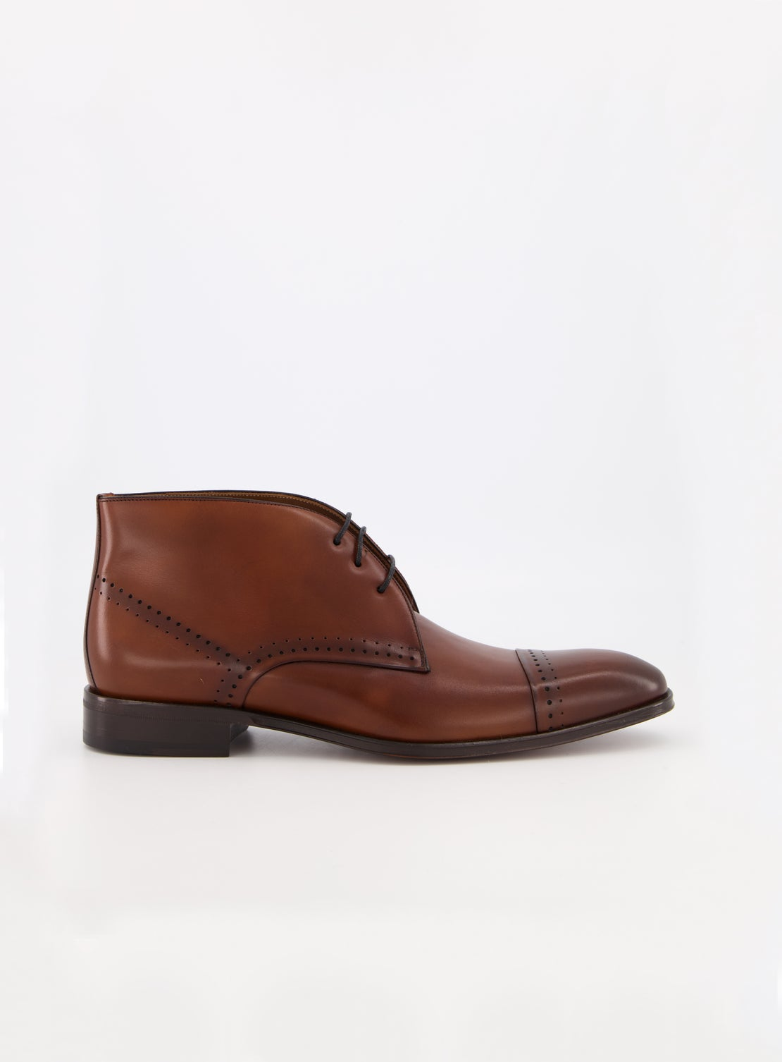 Stipe Chocolate Brogued Boot