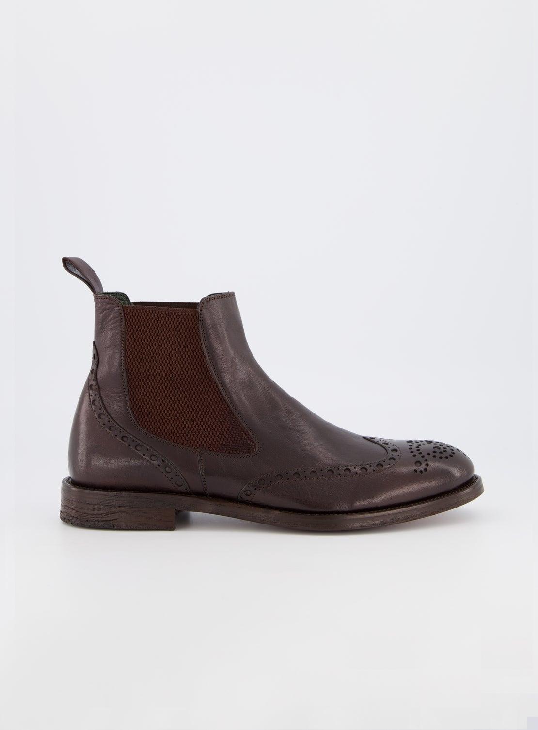 Strummer Brown Brogue Boot