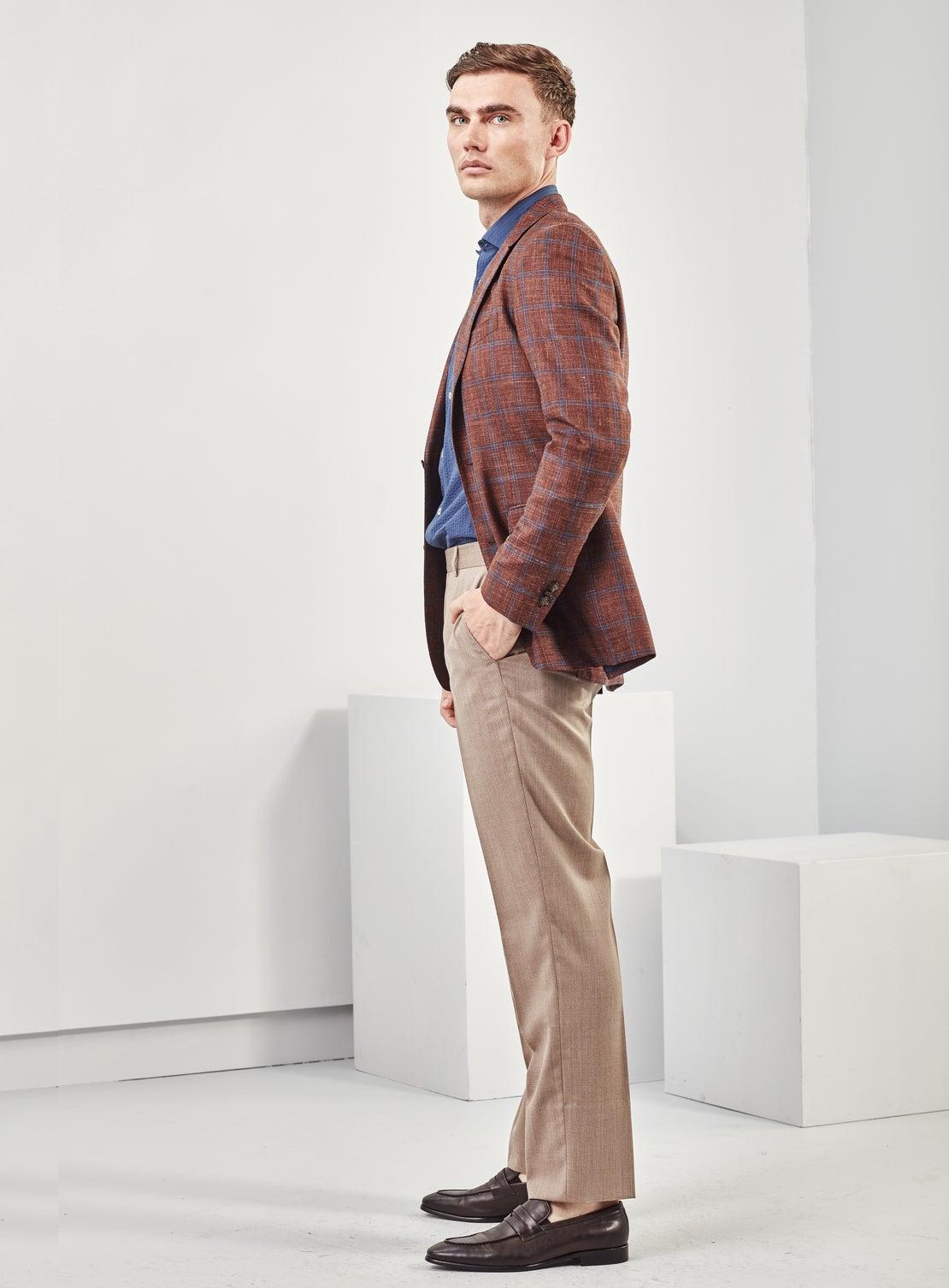 Tan Twill Dress Trouser