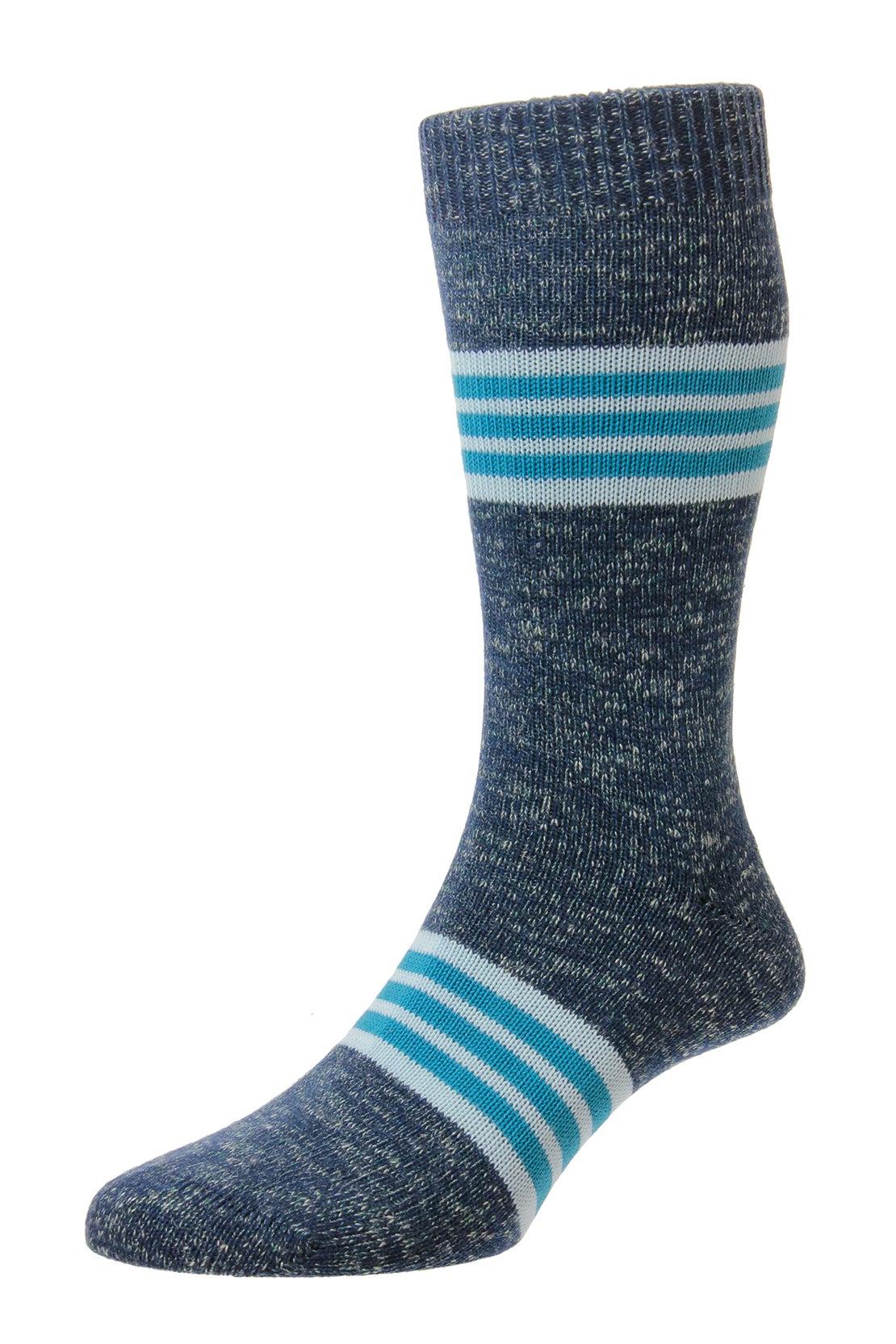 Teal Stripe Band Socks