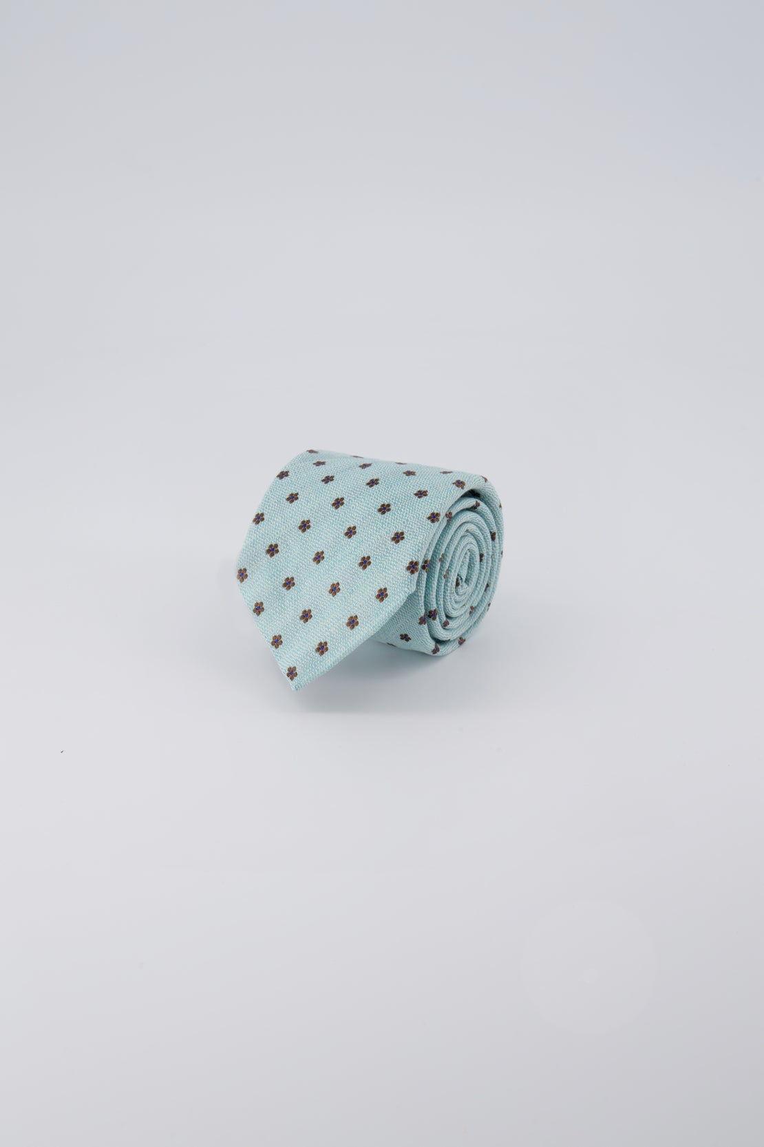Teal With Small Chocolate Flower Tie