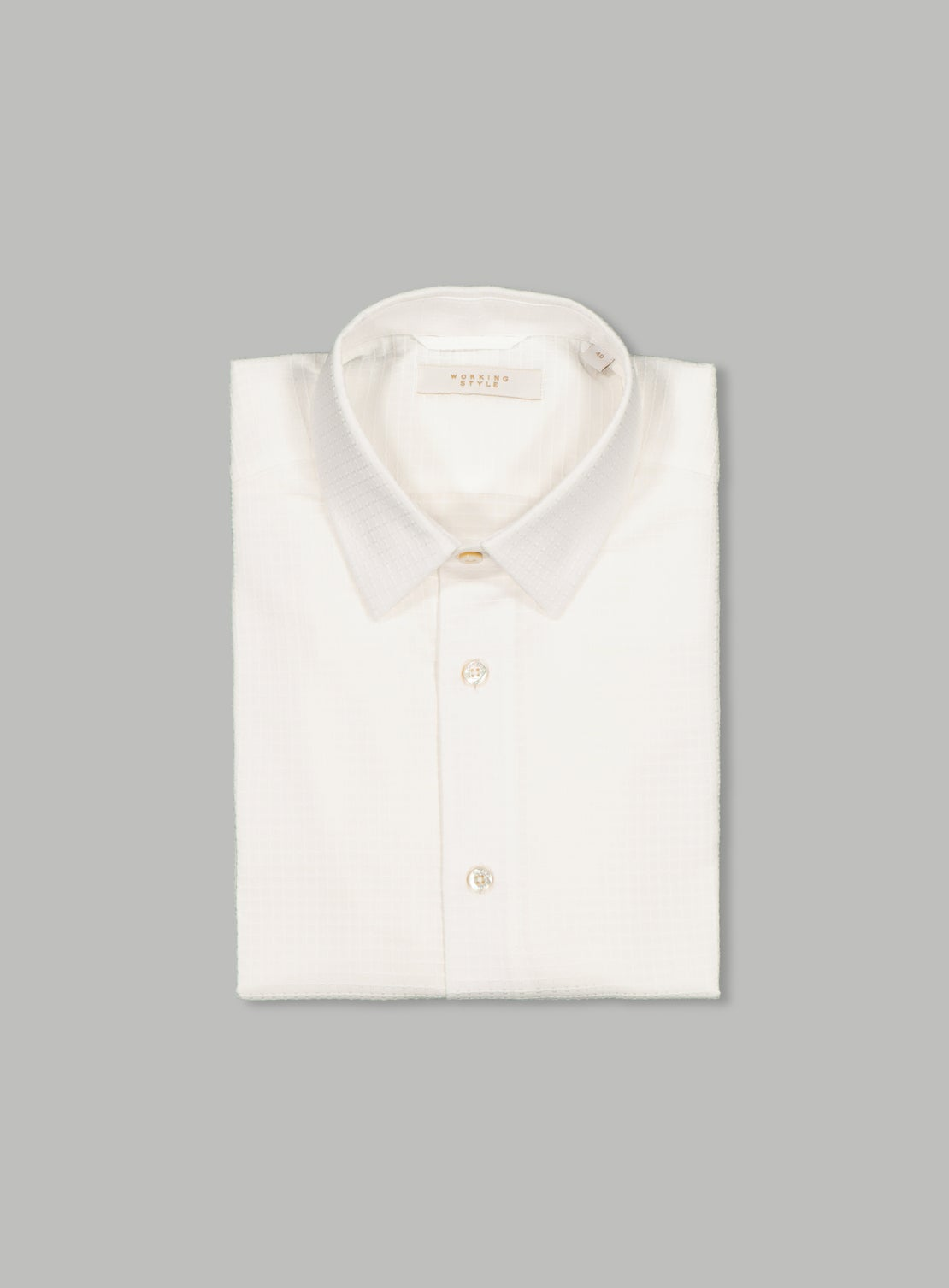 Telly White Textured Shirt