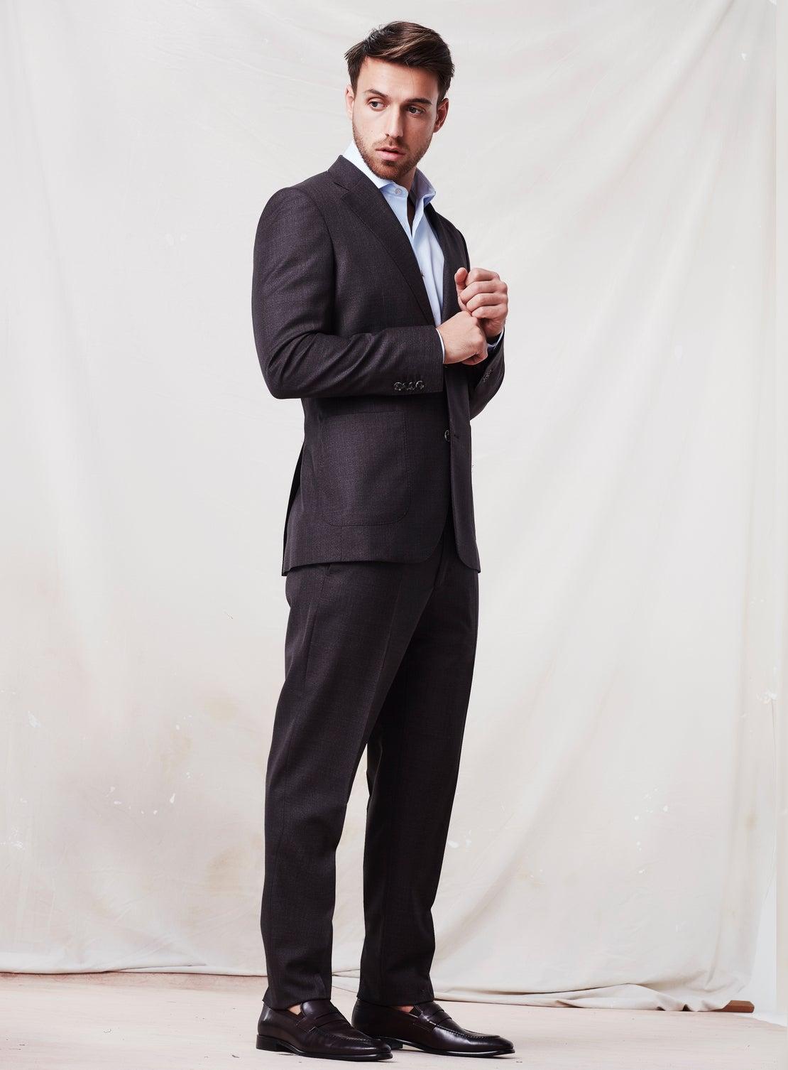 Textured Chocolate Suit
