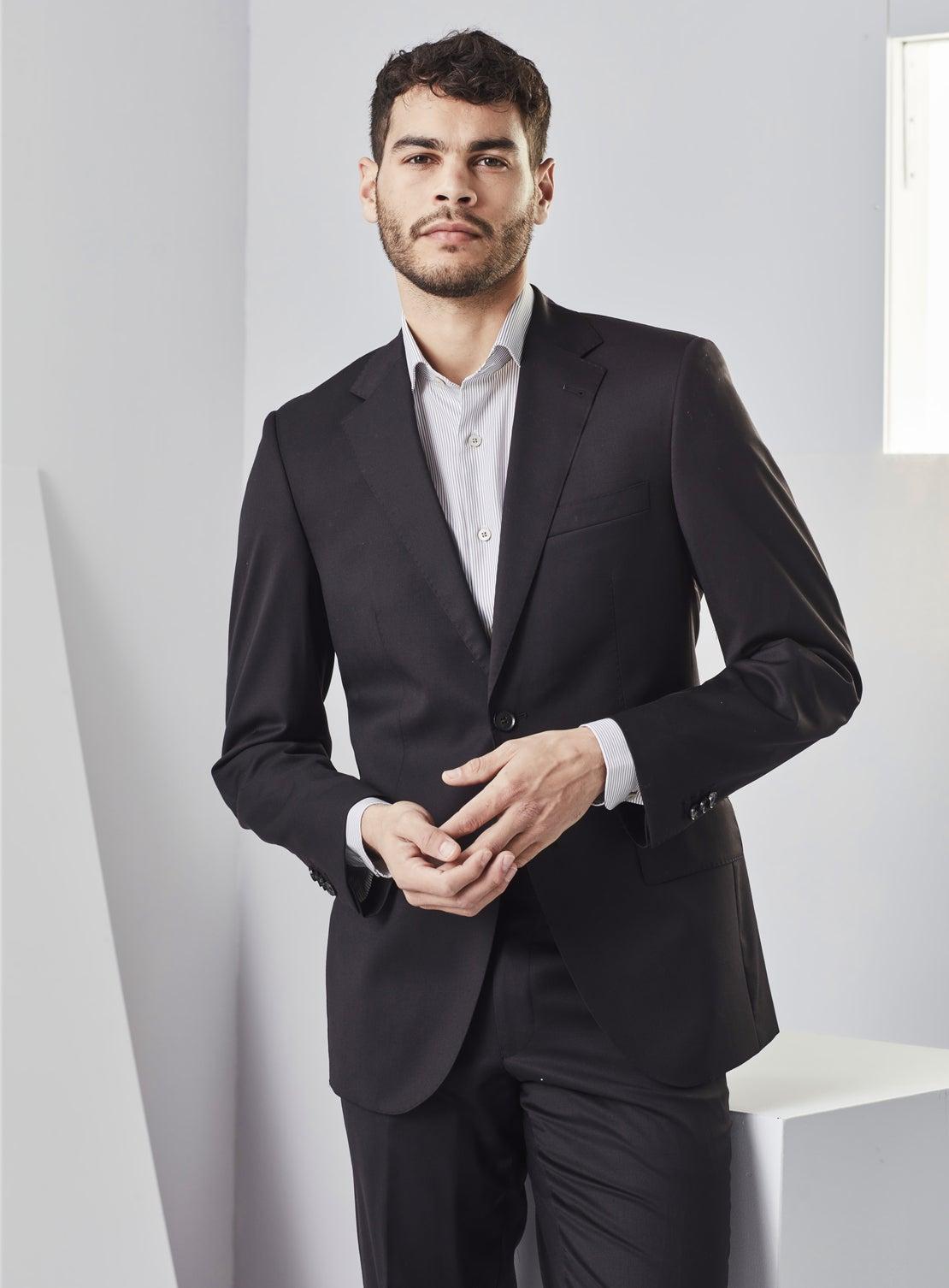 Thom Plain Black Suit