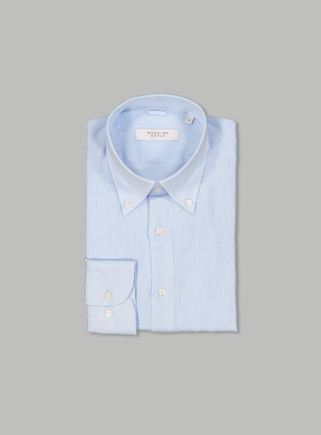 Viktor Blue Linen Shirt