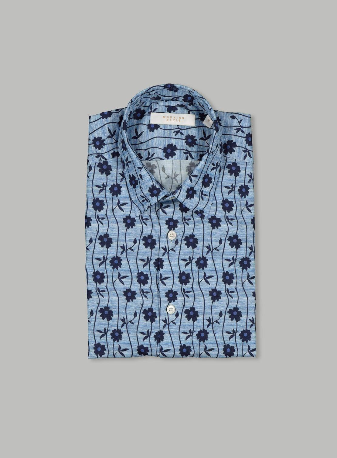 Vine Blue Floral Shirt