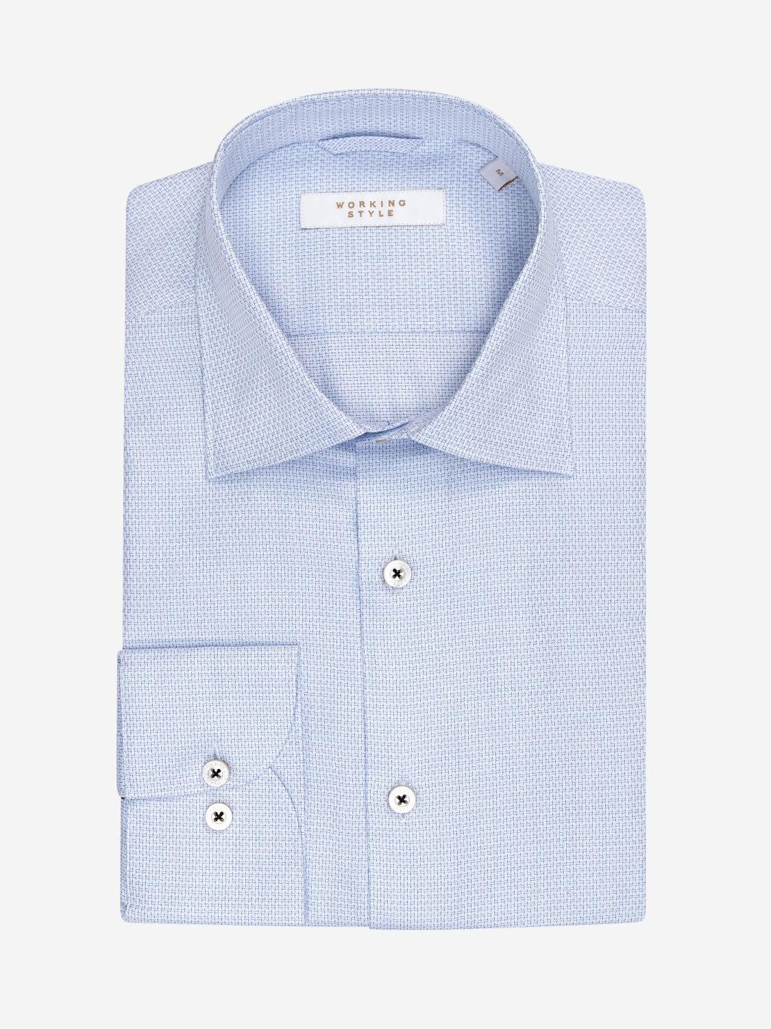 White & Blue Woven Shirt