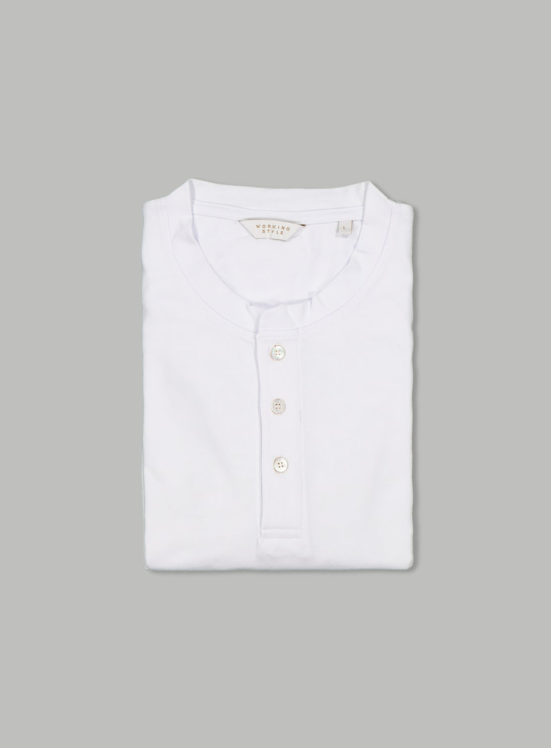 White Henley Long Sleeve