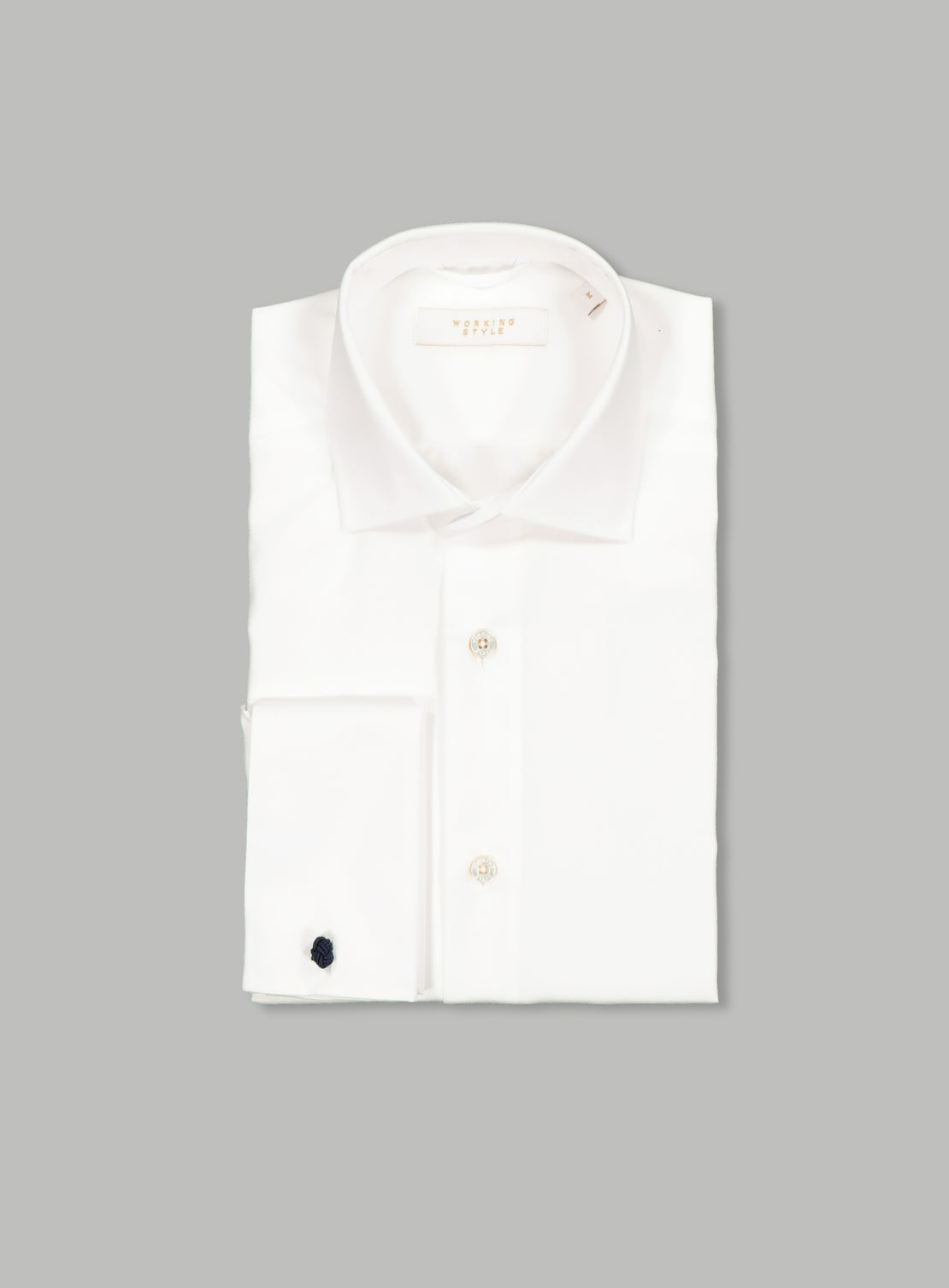 *White Poplin Double Shirt