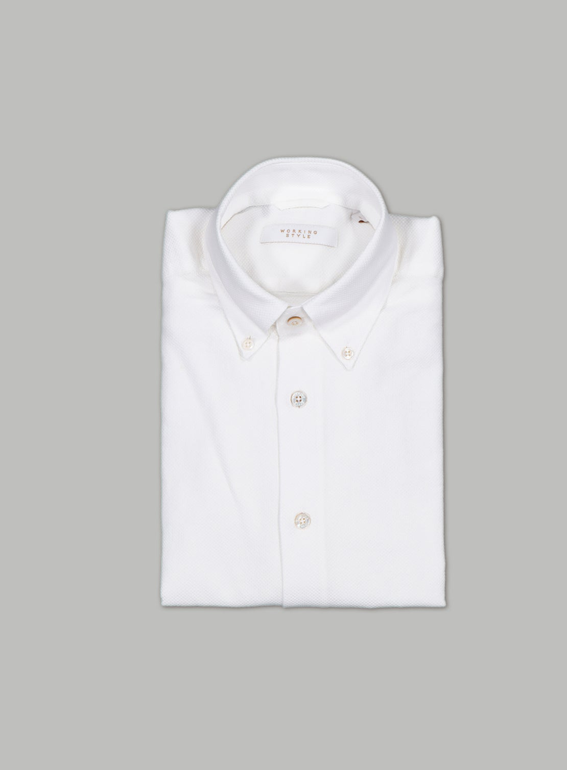 White Textured Oval Shirt