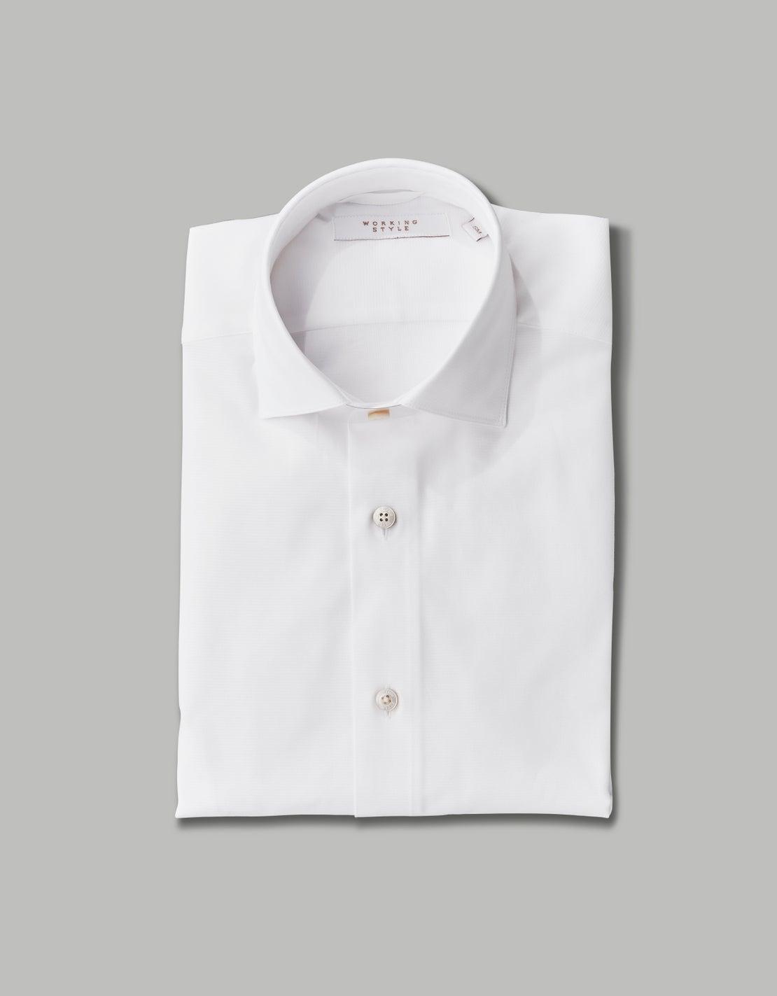 White Textured Shirt