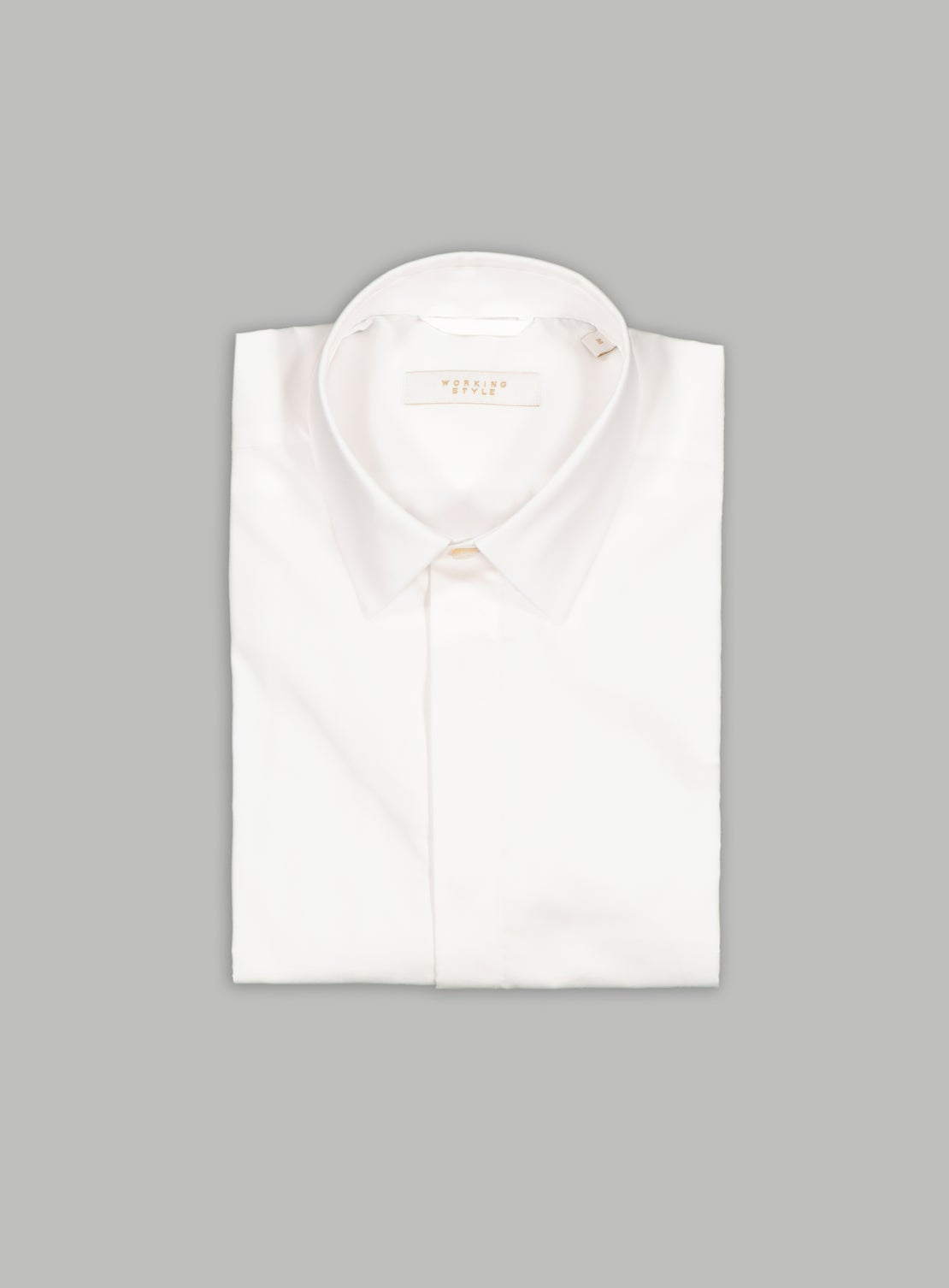 White Twill Fly Front Shirt