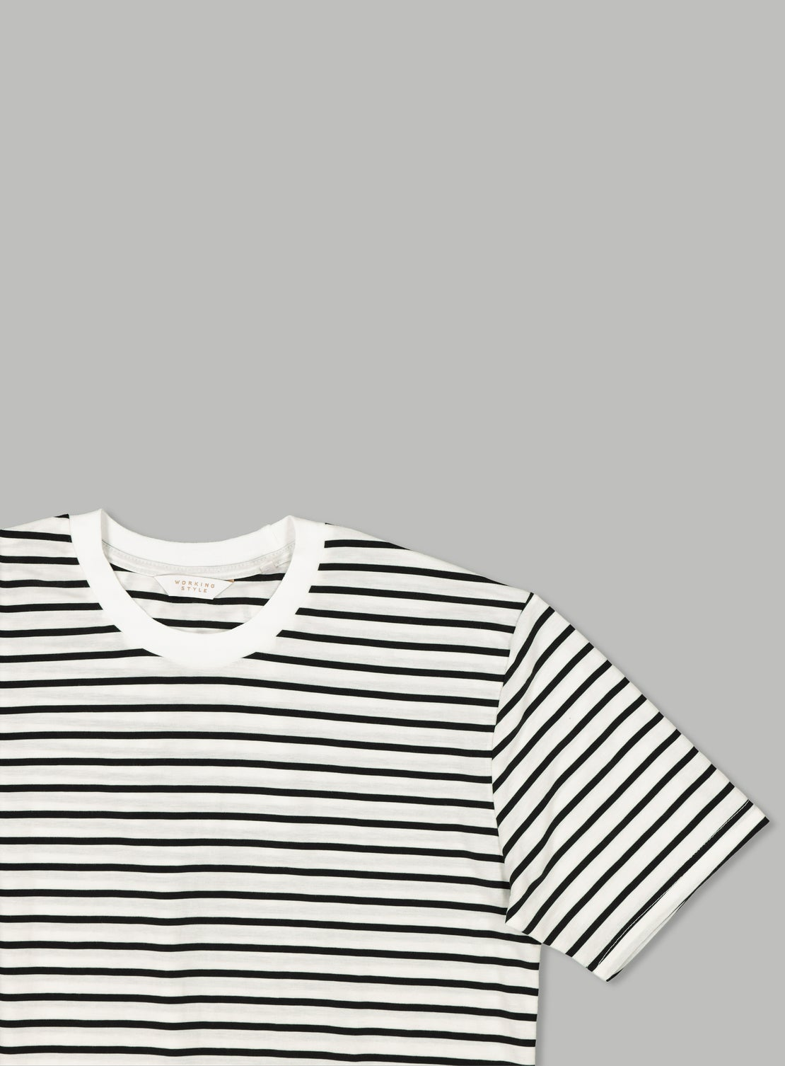 White/Black Stripe T-Shirt