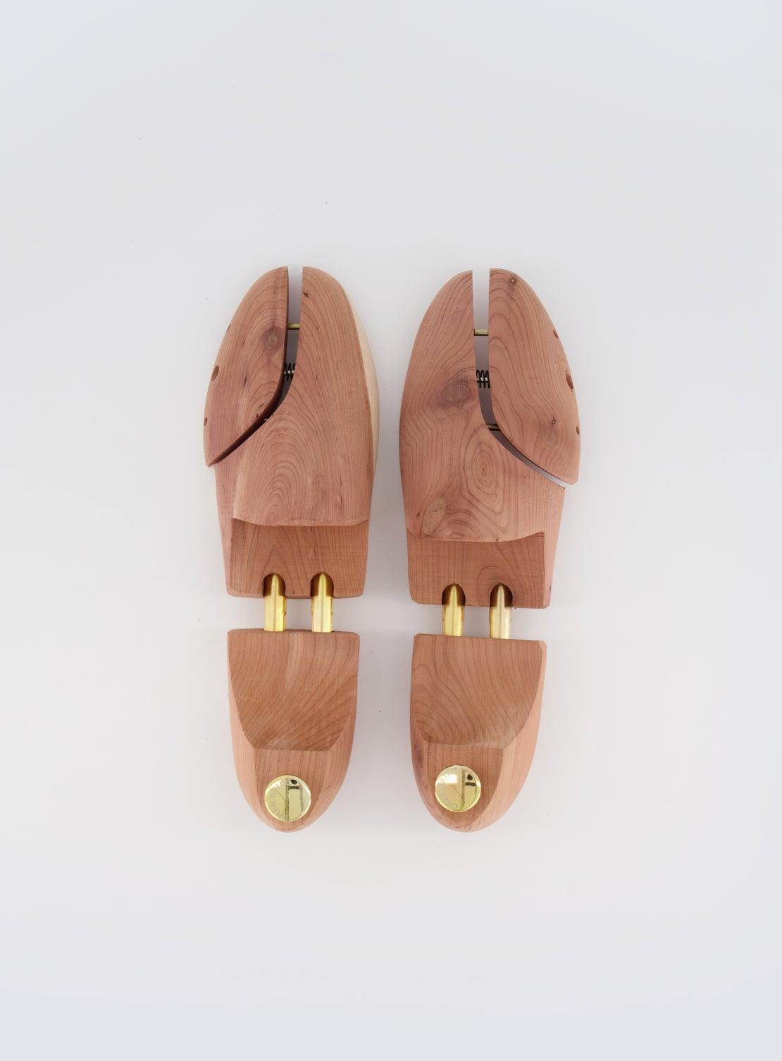 Wooden Shoe Tree w/ Gold Detail